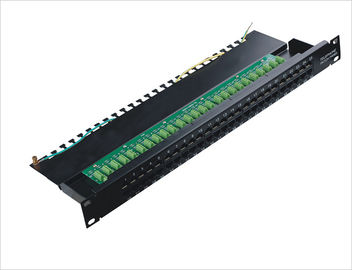 Cina 1000 Mohms Cat.3 Data dan Voice 50 Port Network Patch Panel Rackmount TIA / EIA-568-A YH4003 pemasok