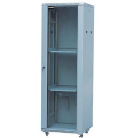 Cina Glass Door Server Rack Cabinet 100mm Kedalaman Cold Rolled Steel Dengan Powder Coat Finishing YH2002 Distributor