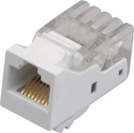 Cina Warna Putih Permukaan Mount Outlet Cat 6 RJ45 110 Network Keystone Jack YH7008 Distributor