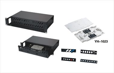 Cina Keselamatan 2U Fiber Optic Rack Mount Enclosure Panel 36 Port 19 Inch Racks YH1012 Distributor